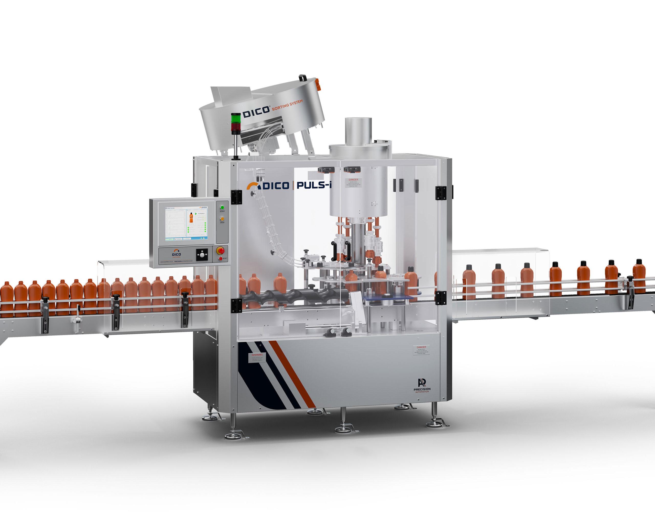 Precision Automation Dico Puls-i cam driven capping machine